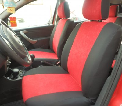 RED /& BLACK RS SPORTS CAR SEAT COVERS SET FITS FIAT PANDA 2004-2012